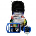 Tactical Black Combat Backpack Responder Kit with AED